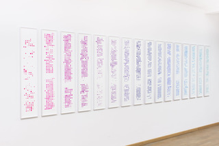 Activity Tableau (2000–2015), screen print on archival paper, each: 24 x 130 cm, 2016